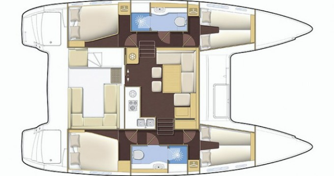 Verhuur Catamaran in Propriano - Lagoon Lagoon 400 S2