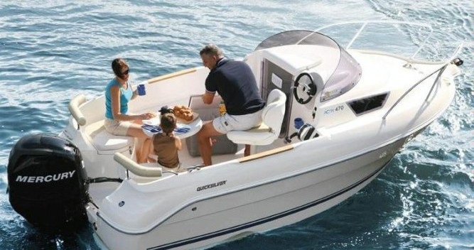 Bootverhuur Quicksilver Activ 470 Cabin in La Ciotat via SamBoat