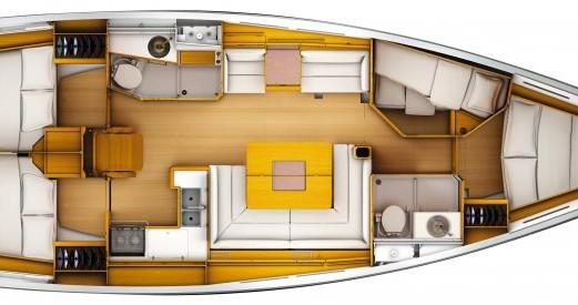 Verhuur Zeilboot in Port du Crouesty - Jeanneau Sun Odyssey 439 Q