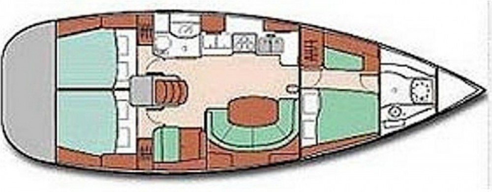 Bootverhuur Grand-Bourg goedkoop Oceanis 411 Clipper