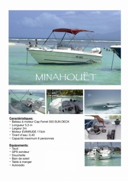 Huur een B2 Marine Cap Ferret 550 Sun Deck in Pointe-à-Pitre