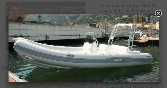 Italboats Predator 599 AS te huur van particulier of professional in Salerno