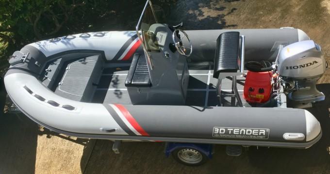 Verhuur Rubberboot 3D Tender met vaarbewijs