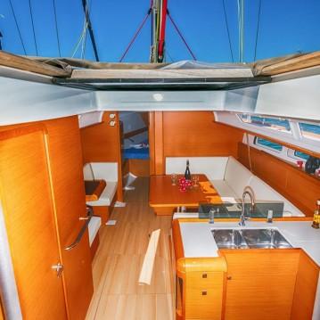 Huur een Jeanneau Sun Odyssey 409 in Keramotí