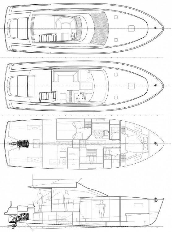Bootverhuur Cyrus Cyrus 13.8 Flybridge in Rovinj via SamBoat