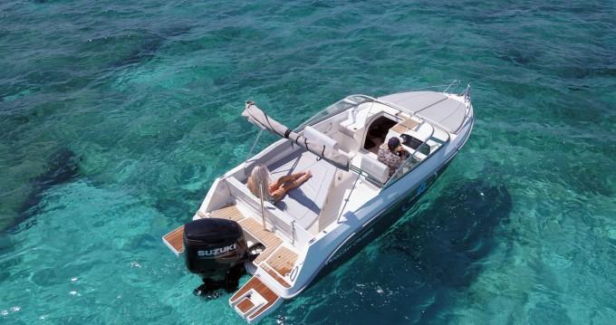 Bootverhuur Ibiza Island goedkoop Pacific Craft 700 DC