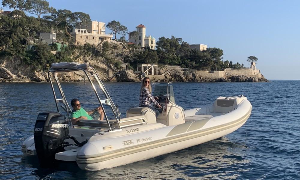 Huur Rubberboot met of zonder schipper Bsc in Saint-Raphaël