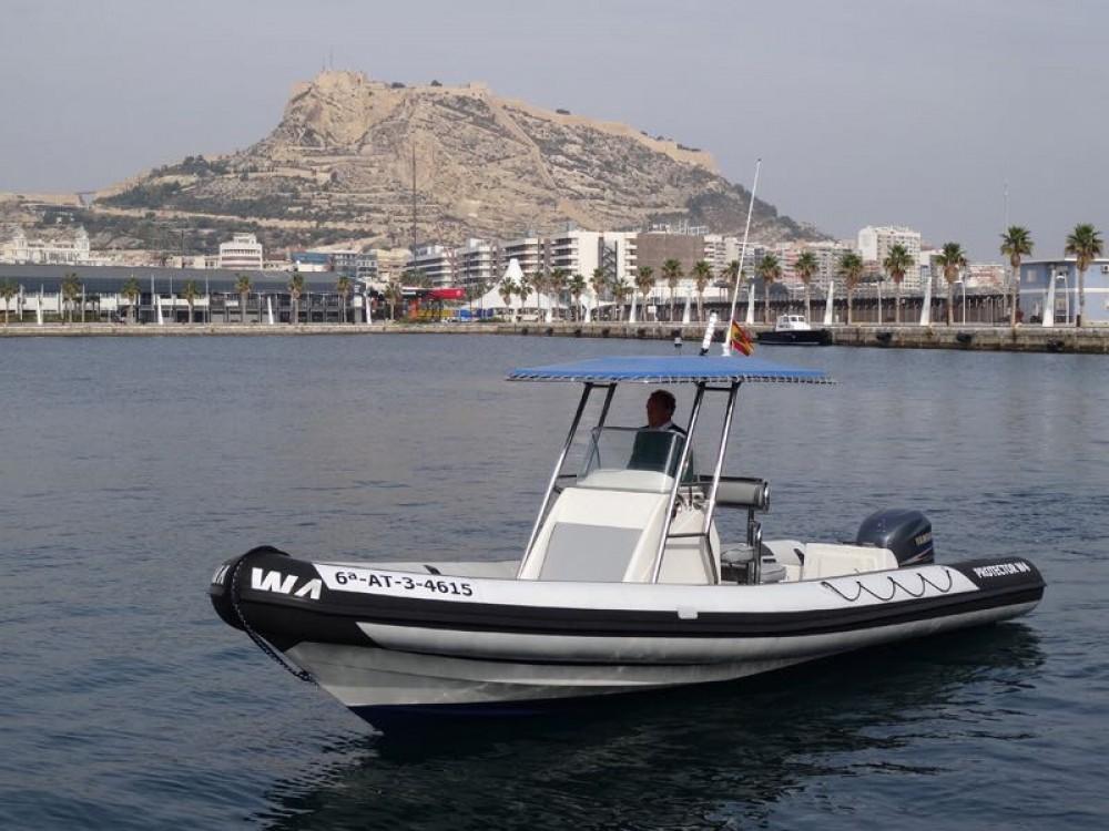 Rubberboot te huur in Alicante voor de beste prijs