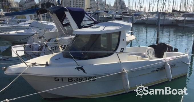 Bootverhuur Port-Camargue goedkoop Quicksilver 620 Timonier