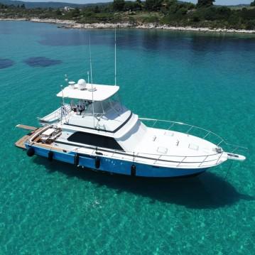 Motorboot te huur in Ormos Panagias voor de beste prijs