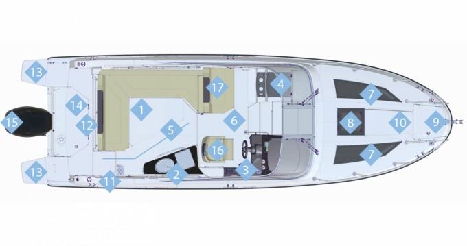 Verhuur Motorboot in Portals Nous - Quicksilver Activ 805 Cruiser