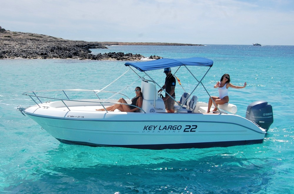 Bootverhuur Ibiza goedkoop Key Largo 22 Deck