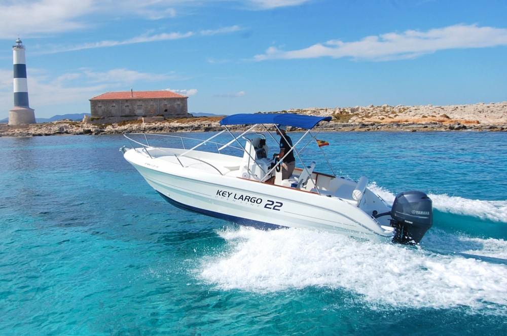 Verhuur Motorboot in Ibiza - Sessa Marine Key Largo 22 Deck