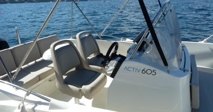 Verhuur Motorboot in Mandelieu-la-Napoule - Quicksilver Activ 605 Open