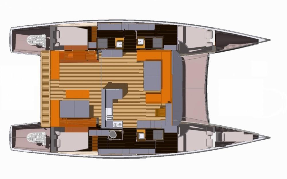 Bootverhuur Le Marin goedkoop Aventura 43