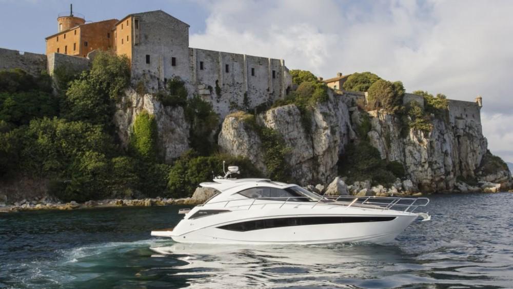 Verhuur Motorboot in Mandelieu-la-Napoule - Galeon Galeon 405 HTL