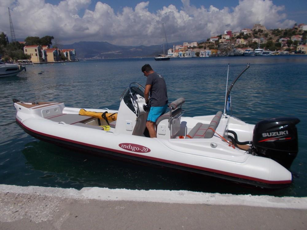 Huur Rubberboot met of zonder schipper INDIGO in Μεγίστη