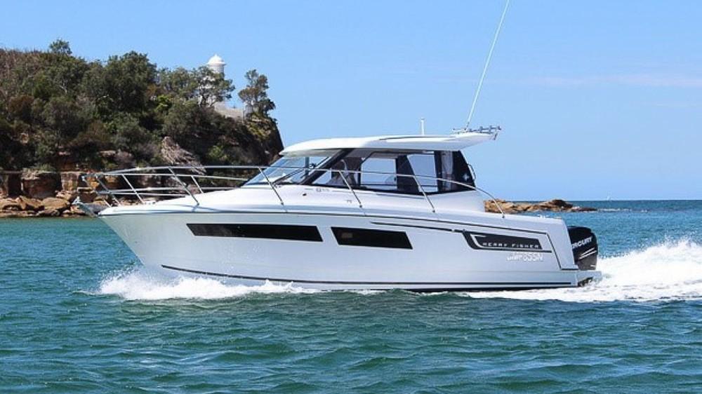 Verhuur Motorboot in La Trinité-sur-Mer - Jeanneau Merry Fisher 855