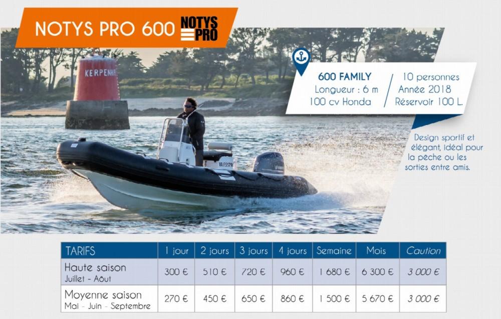 Verhuur Rubberboot Notys-Pro met vaarbewijs