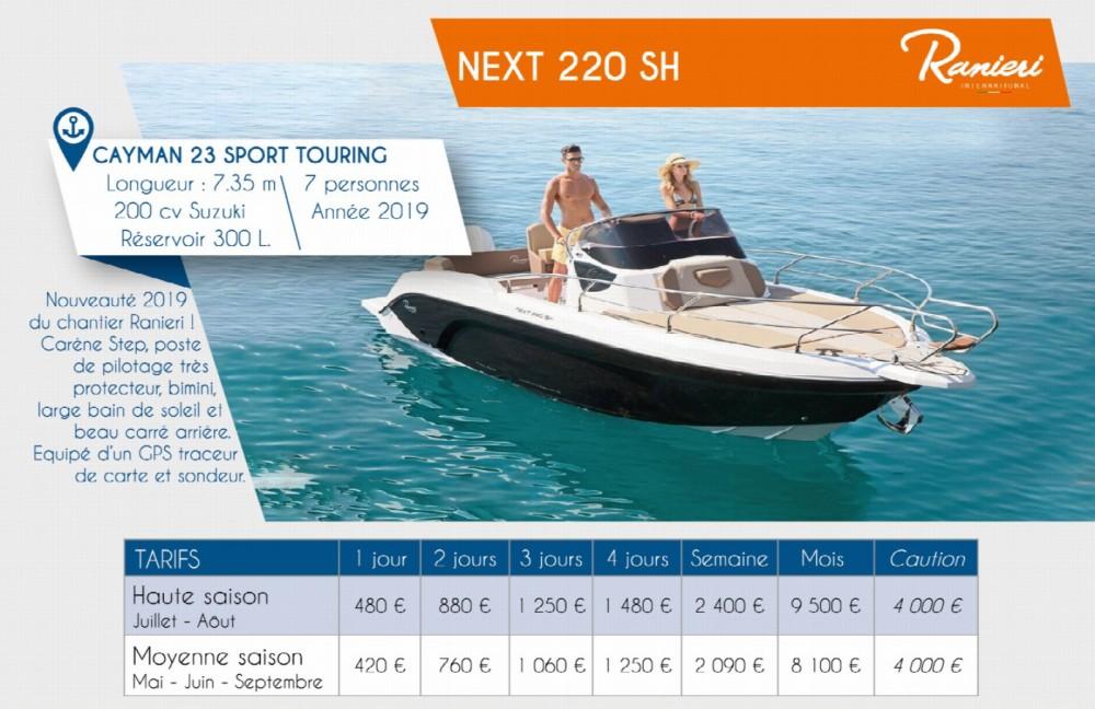 Huur Motorboot met of zonder schipper Ranieri in Arzon