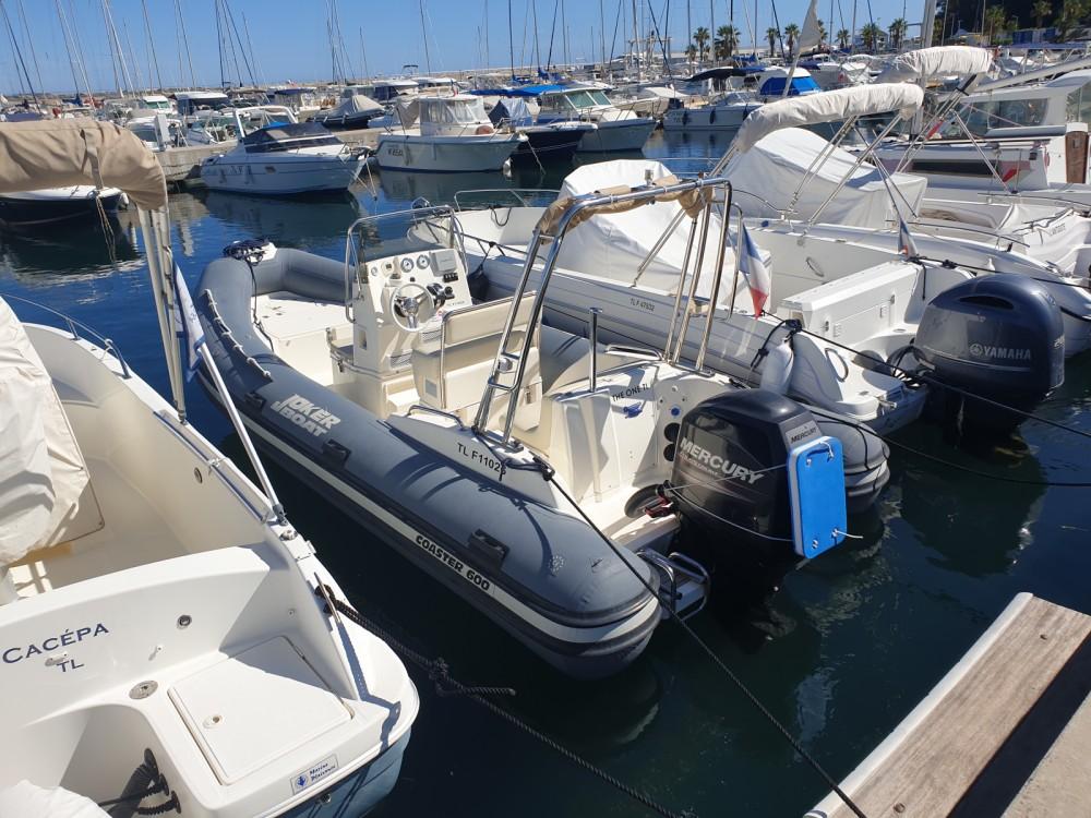 Verhuur Rubberboot Joker Boat met vaarbewijs