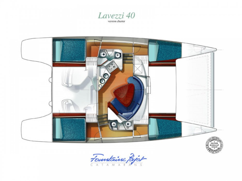 Huur Catamaran met of zonder schipper Fountaine Pajot in Alghero