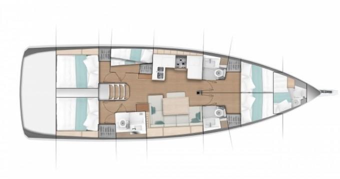 Verhuur Zeilboot in Volos - Jeanneau Sun Odyssey 490