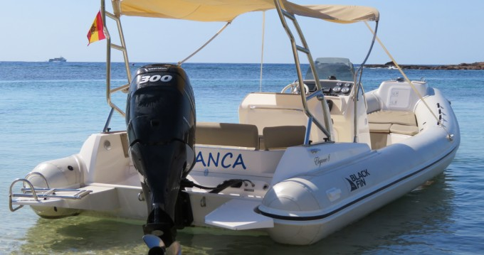 Verhuur Rubberboot Black Fin met vaarbewijs
