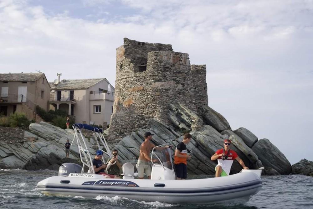 Verhuur Rubberboot in Algajola - Capelli Tempest 570