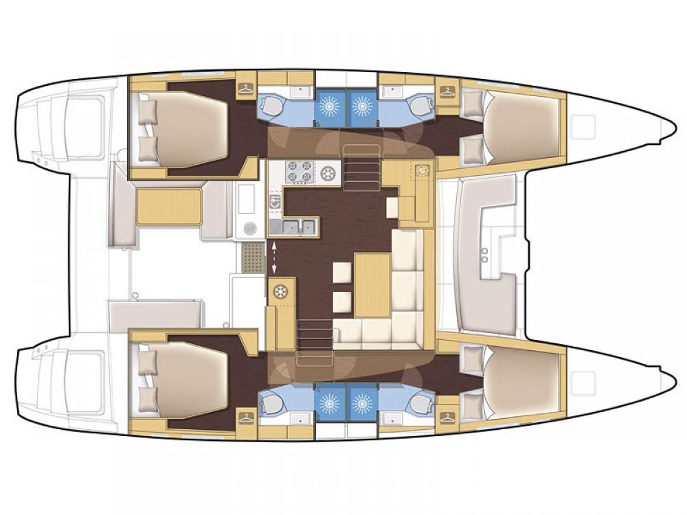 Verhuur Catamaran in Marina de Alimos - Lagoon Lagoon 450 F