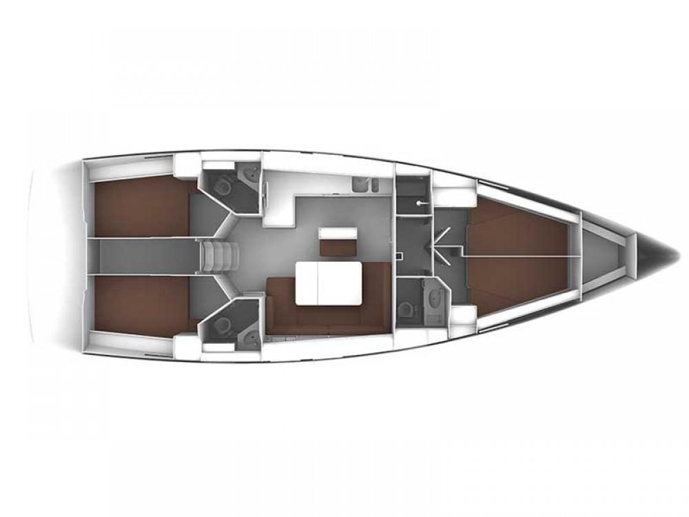 Verhuur Zeilboot in Rogoznica - Bavaria Bavaria Cruiser 46