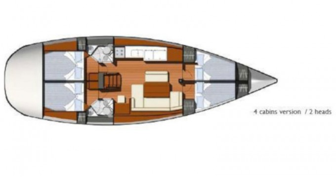 Huur een Jeanneau Sun Odyssey 44i in Volos