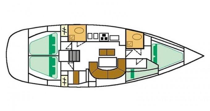 Bootverhuur Punat goedkoop Oceanis 411