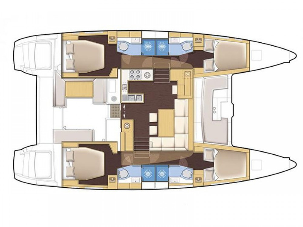 Verhuur Catamaran in Victoria - Lagoon Lagoon 450