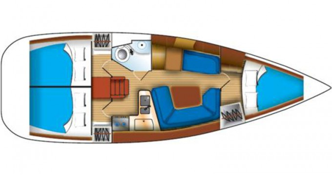 Huur Zeilboot met of zonder schipper Jeanneau in Kallithea