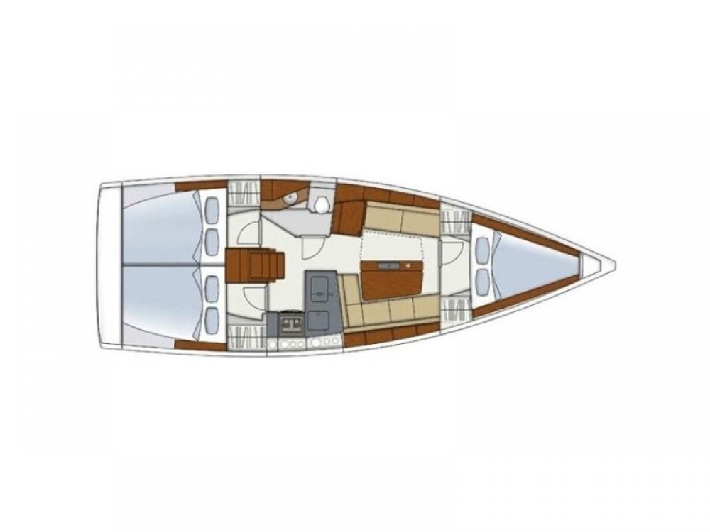 Verhuur Zeilboot in Kaštel Gomilica - Hanse Hanse 345