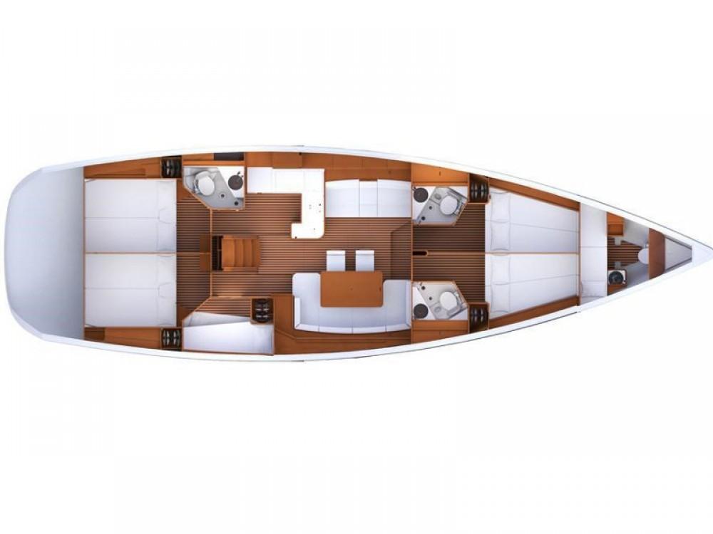 Verhuur Zeilboot in Marina Kaštela - Jeanneau Jeanneau 53