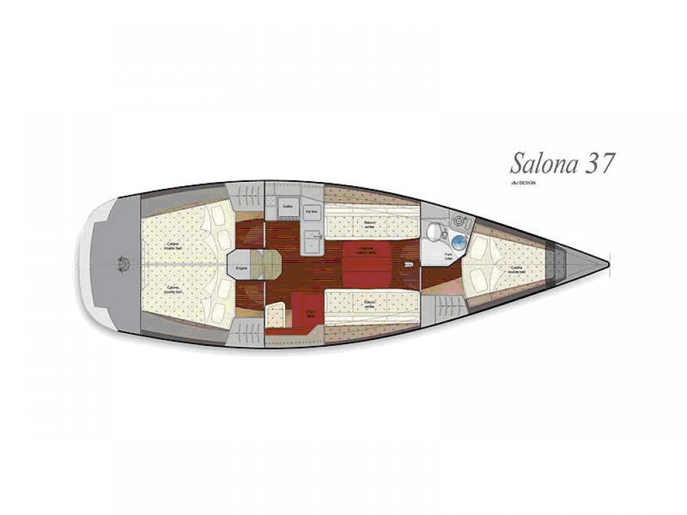Bootverhuur Salona Salona 37 in Marina Kaštela via SamBoat