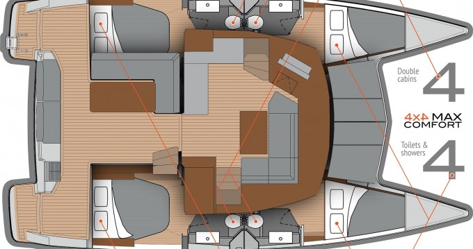 Fountaine Pajot Lucia 40 te huur van particulier of professional in Punat