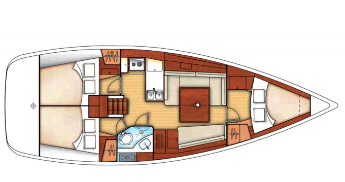 Bootverhuur Marina di Portisco goedkoop Oceanis 37