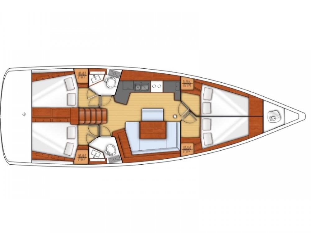 Verhuur Zeilboot in Sukošan - Bénéteau Oceanis 45 - 4 cab.
