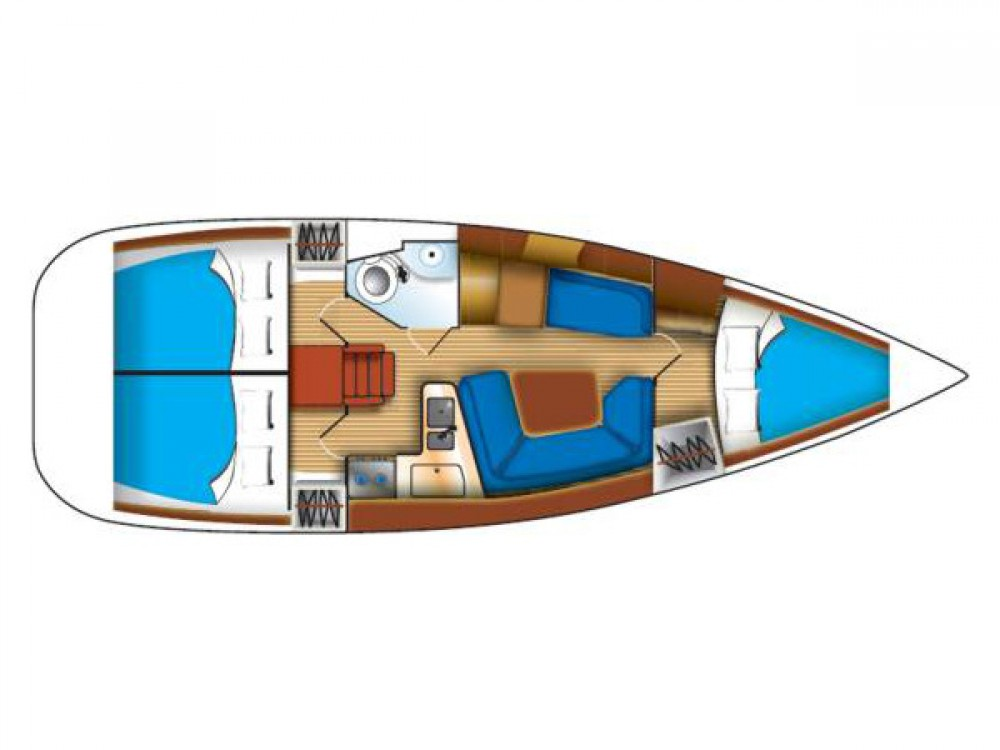Jachthuur in Grad Biograd na Moru - Jeanneau Sun Odyssey 35 via SamBoat