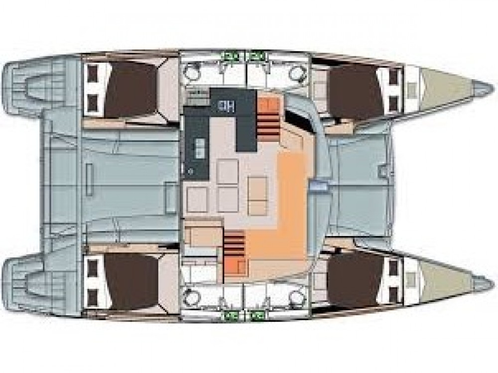Fountaine Pajot Helia 44 te huur van particulier of professional in Le Marin