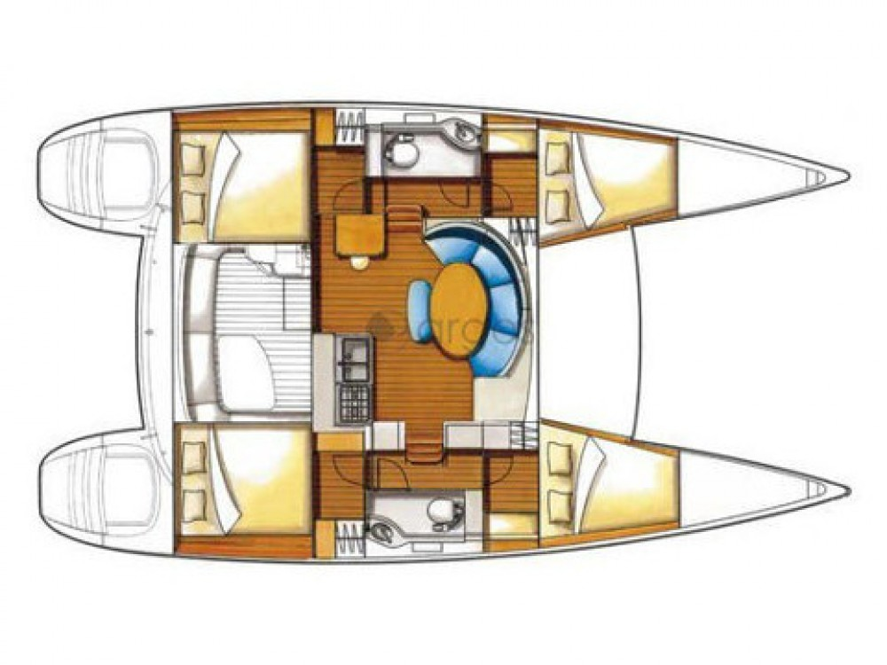 Verhuur Catamaran in  - Lagoon Lagoon 380 S2 Premium