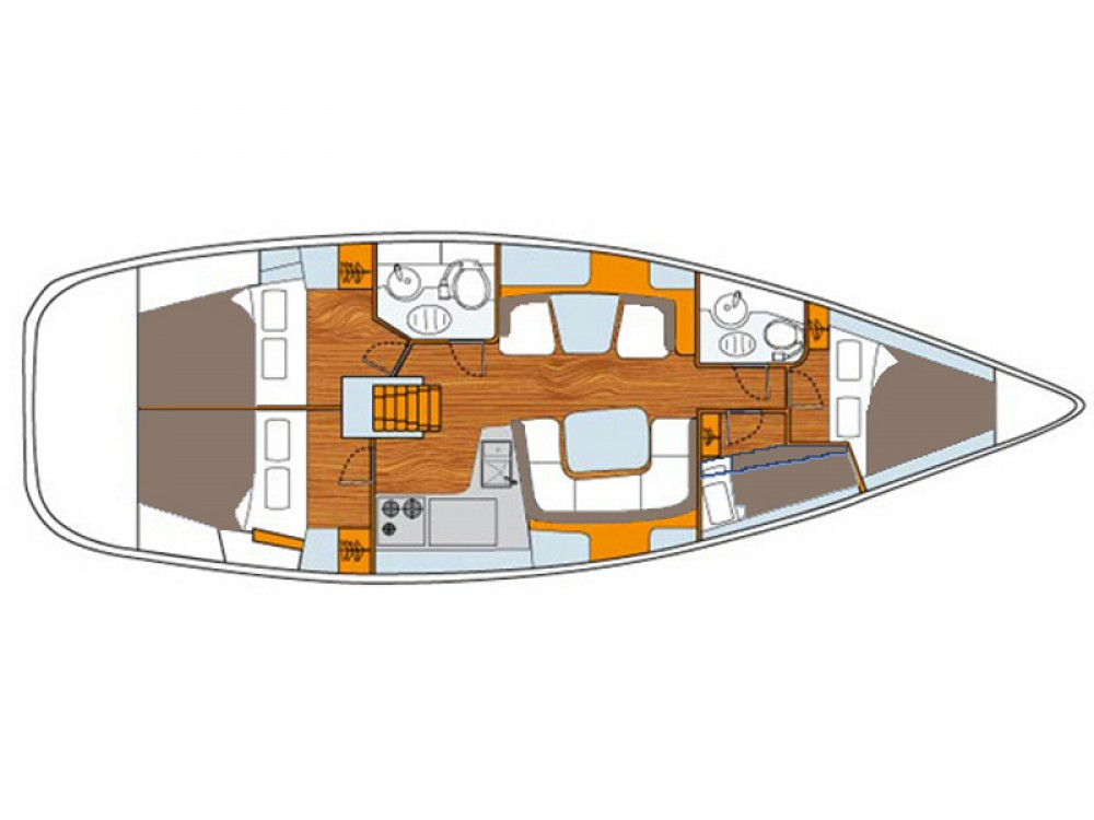 Verhuur Zeilboot in  - Jeanneau Sun Odyssey 43DS