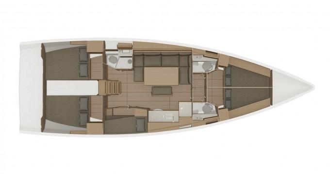 Huur een Dufour Dufour 460 Grand Large 5Cab in Marina di Portisco