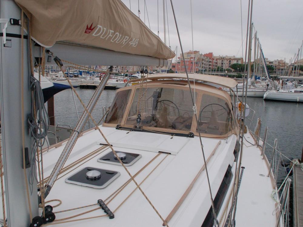 Bootverhuur Fethiye goedkoop Dufour 445 GL 6 pax