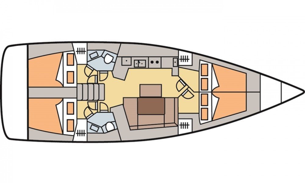 Bootverhuur Bénéteau Oceanis 45 (4 cabins) in Marmaris via SamBoat