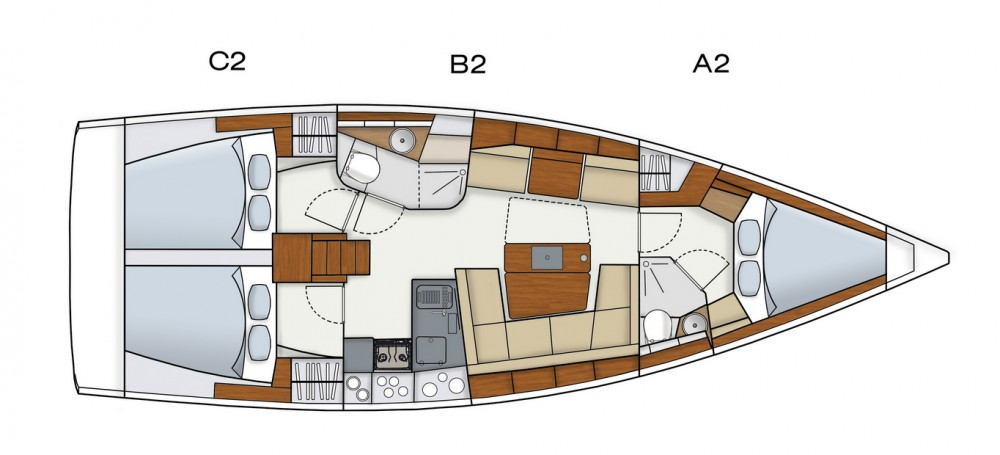 Jachthuur in  - Hanse Hanse 415 via SamBoat