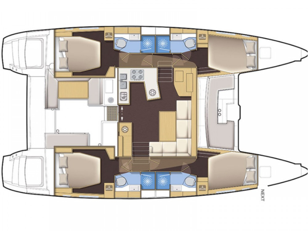 Jachthuur in Trogir - Lagoon Lagoon 450 F Luxury via SamBoat